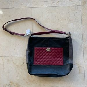 Coach NWT $440 Parker Colorblock Quilted Hobo Bag